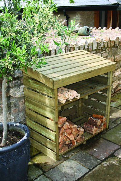 Hutton Wooden Log Store 1.25m x 1.24m