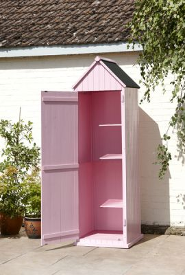Whitstable 'Beach Hut' Garden Shed - Pink