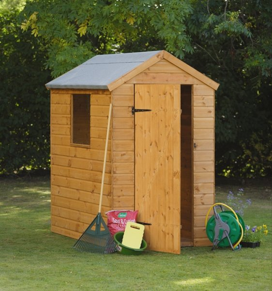 Forest Garden 6x4 Shiplap Apex Shed - Assembled