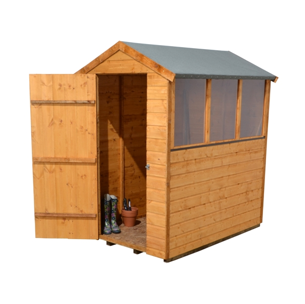 Forest Garden 4x6 Shiplap Apex Shed - Assembled