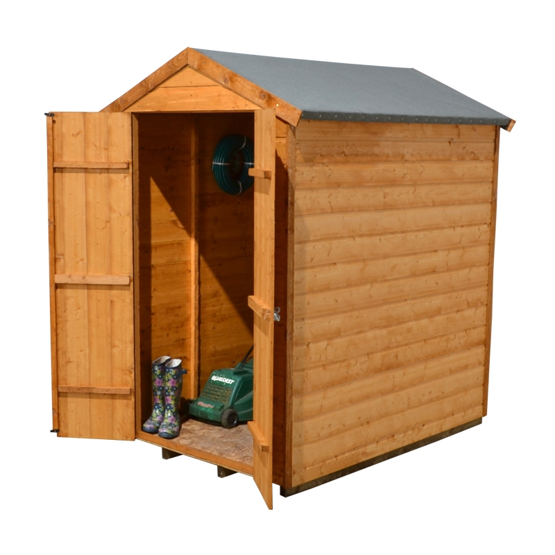 Forest Garden 4x6 Shiplap Shed Double Door - Assembled