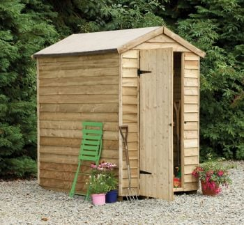 Forest Garden 4x6 Overlap Apex Security Shed