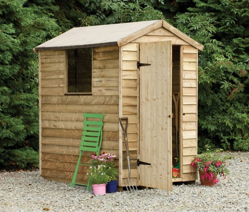 Forest Garden 6x4 Pressure Treated Overlap Apex Shed