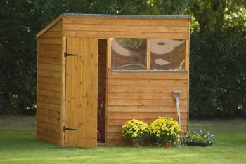 Forest Garden 7x5 Overlap Pent Shed