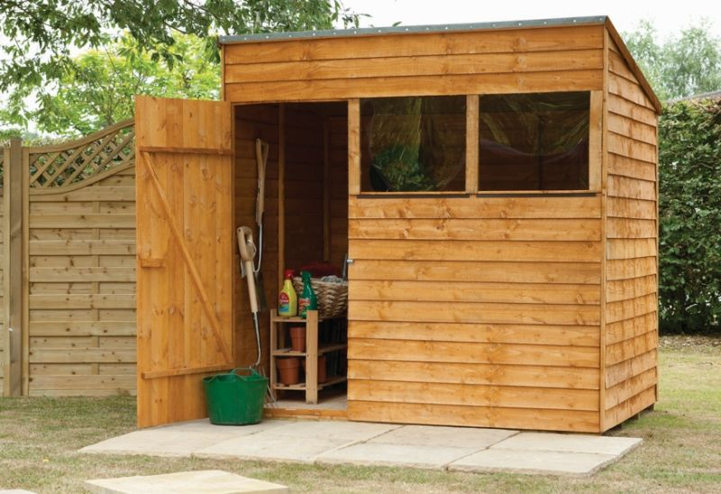 Forest Garden 7x5 Premium Pent Overlap Shed