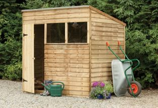 Forest Garden 7x5 Pressure Treated Overlap Pent Shed