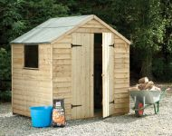 Forest Garden 7x5 Pressure Treated Double Door Overlap Apex Shed