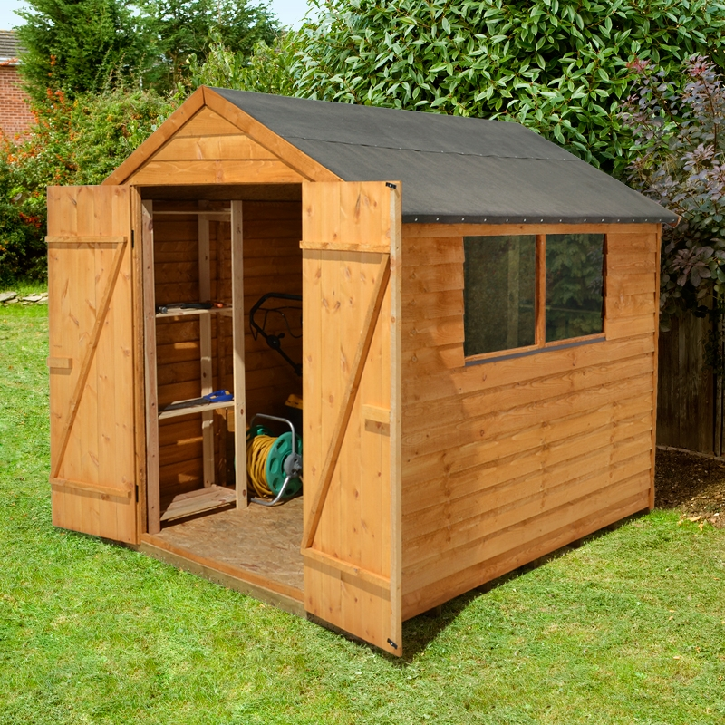 Forest Garden 8x6 Overlap Apex Shed Double Door