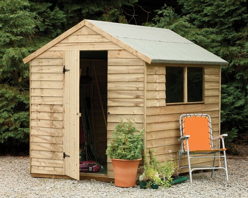 Forest Garden 8x6 Pressure Treated Overlap Apex Shed