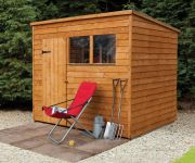 Forest Garden 8x6 Overlap Pent Shed
