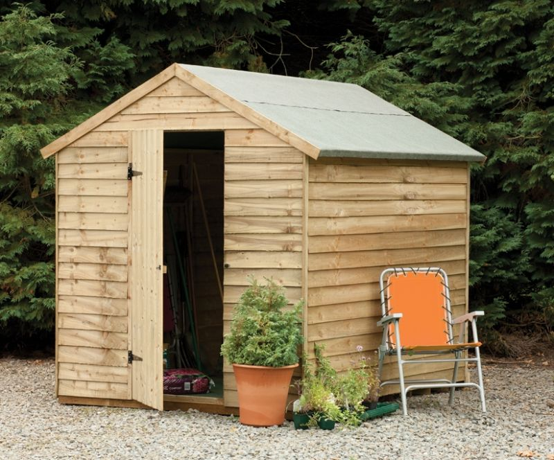 Forest Garden 8x6 Overlap Apex Security Shed
