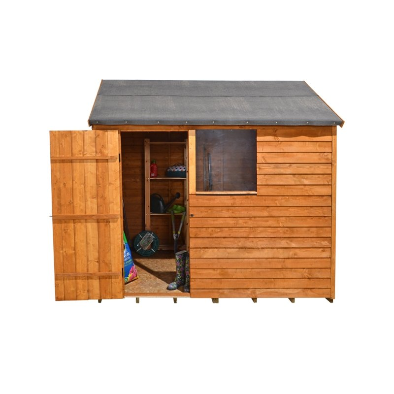 Forest Garden 8x6 Overlap Reverse Apex Shed