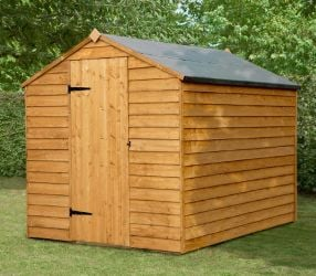 Forest Garden 8x6 Overlap Apex Security Shed Double Door - Assembled