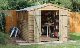 Forest Garden 10x8 Pressure Treated Overlap Apex Workshop/Shed - Assembled