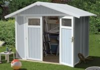 Utility 4,9 Blue & White Shed