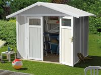 Utility 4,9 Green & White Shed