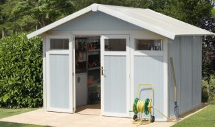 Utility 7,5 Blue & White Shed