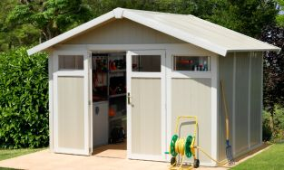 Utility 7,5 Green & White Shed