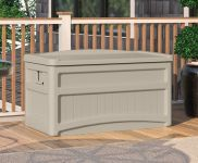 Garden Storage Deck Box with Seat - W117cm
