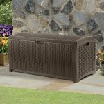 Wicker Style Garden Storage Deck Box - W127cm