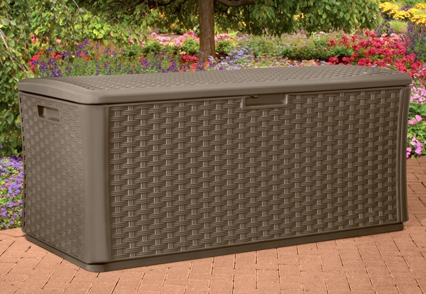 Wicker Style Garden Storage Deck Box - W146cm