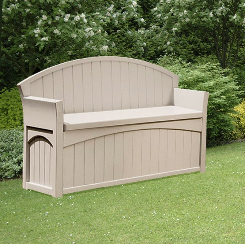 Patio Garden Storage Bench - W134cm