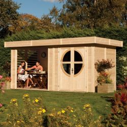 W4.92m (16ft 2in) Connor Leisure Unpainted Cabin FSC® by Rowlinson®