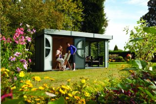 W4.92m (16ft 2in) Connor Wooden Leisure Cabin Pained FSC® by Rowlinson®