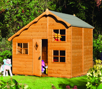 2.5m (8ft 2in) Playaway Wooden Swiss Cottage by Rowlinson®
