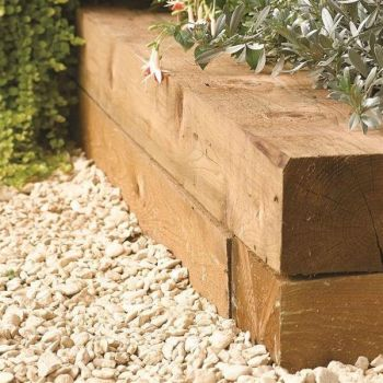 Timber Sleeper Garden Edging (Pack of 2) - W90cm