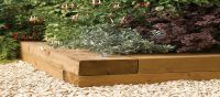 Timber Sleeper Garden Edging (Pack of 2) - W180cm