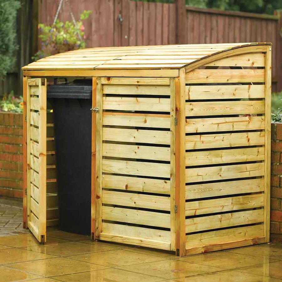 W1.56m (5ft 1in) Wooden Wheelie Bin Store FSC® by Rowlinson®