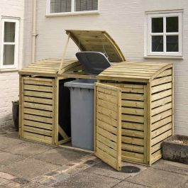 W2.3m (7ft 7in) Wooden Wheelie Bin Store FSC® by Rowlinson®