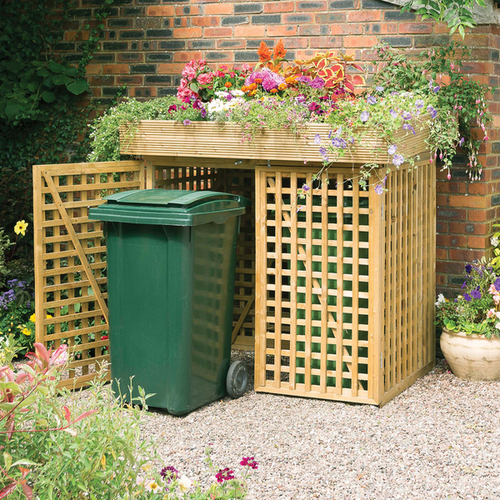 Double Wheelie Bin Store With Planter By Kanny W158cm X