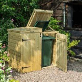 W1.5m (4ft 11in) Double Wheelie Bin Store Apex by Rowlinson®
