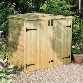150L Double Wheelie Bin Store Apex by Rowlinson®