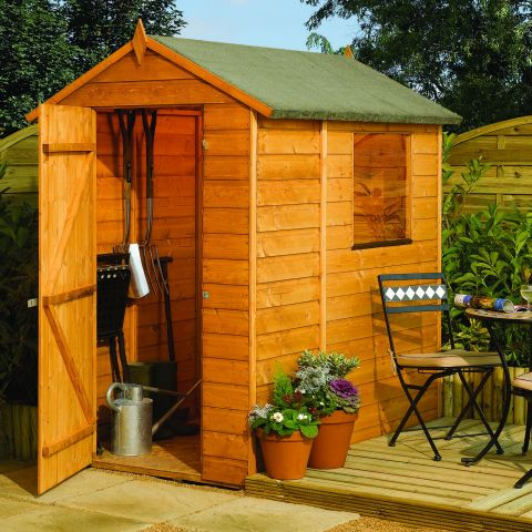 6ft x 4ft Shiplap Apex Modular Shed by Rowlinson®