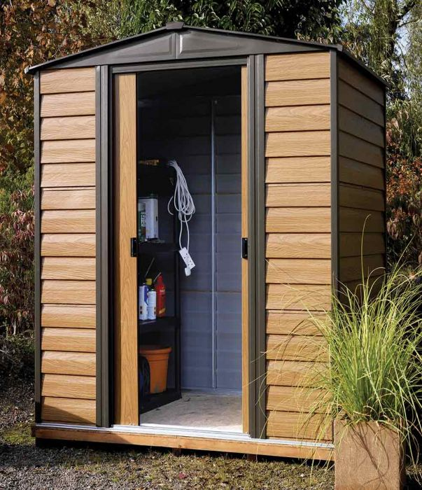 6ft x 5ft Woodvale Metal Apex Shed by Rowlinson®