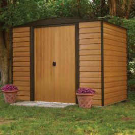8ft x 6ft Woodvale Metal Apex Shed by Rowlinson®