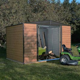 10ft x 6ft Woodvale Metal Apex Shed by Rowlinson®