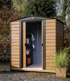 12ft x 10ft Woodvale Metal Apex Shed by Rowlinson®