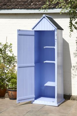 Whitstable 'Beach Hut' Garden Shed - Blue