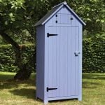 179cm x 77cm Wooden Tool Shed - Blue