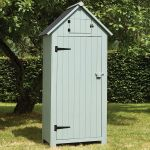 179cm x 77cm Wooden Tool Shed - Green