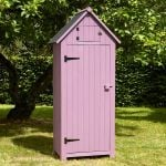 179cm x 77cm Wooden Tool Shed - Plum