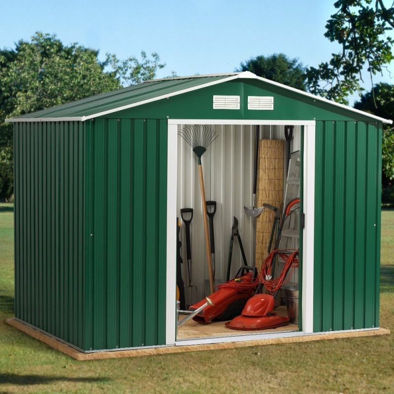 Rosedale 8ft x 10ft Galvanised Steel Shed