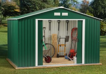 Springdale 10ft x 12ft Galvanised Steel Shed