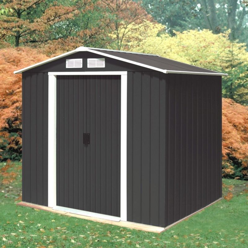 Anthracite 6ft x 4ft Galvanised Steel Shed