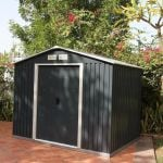 Anthracite 8ft x 6ft Galvanised Steel Shed