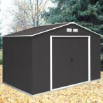 Anthracite 10ft x 8ft Galvanised Steel Shed